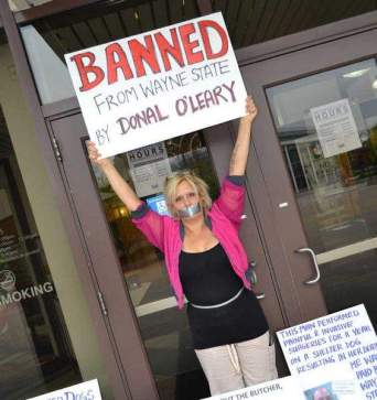 Camille Marino Protesting